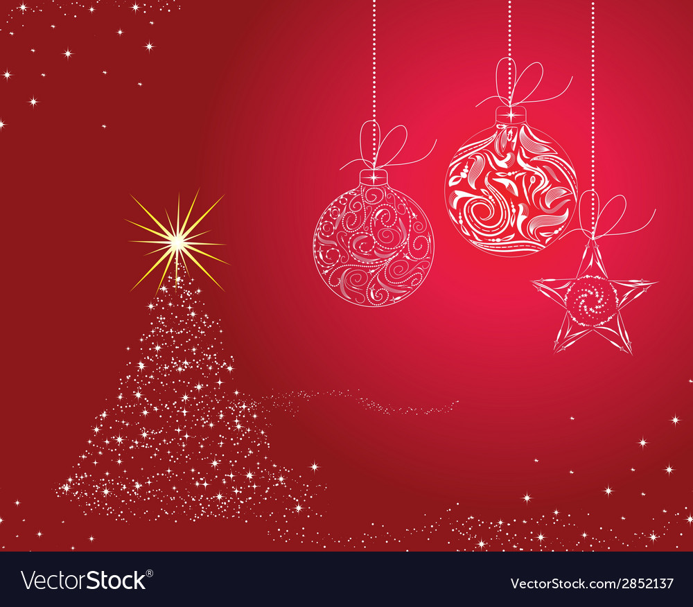 Christmas background with christmas balls vector | Price: 1 Credit (USD $1)