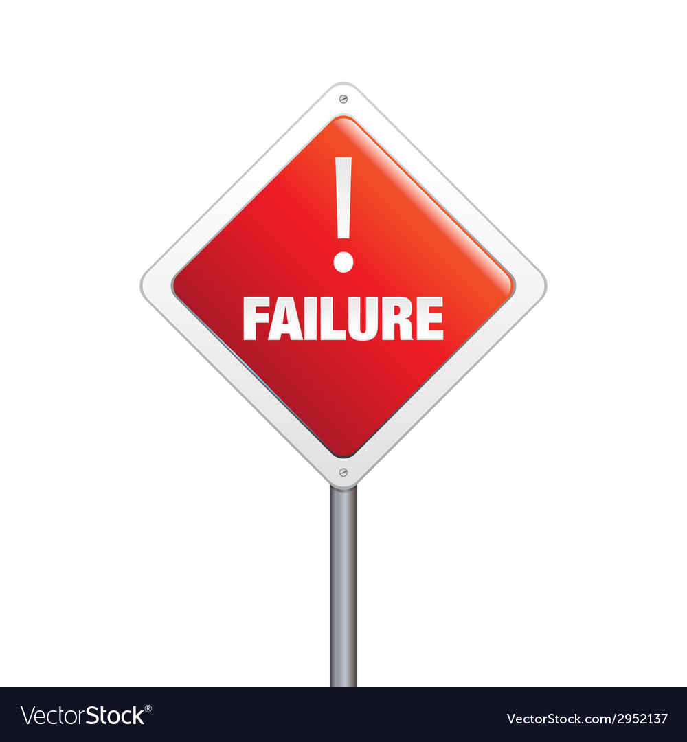 Failure sign vector | Price: 1 Credit (USD $1)