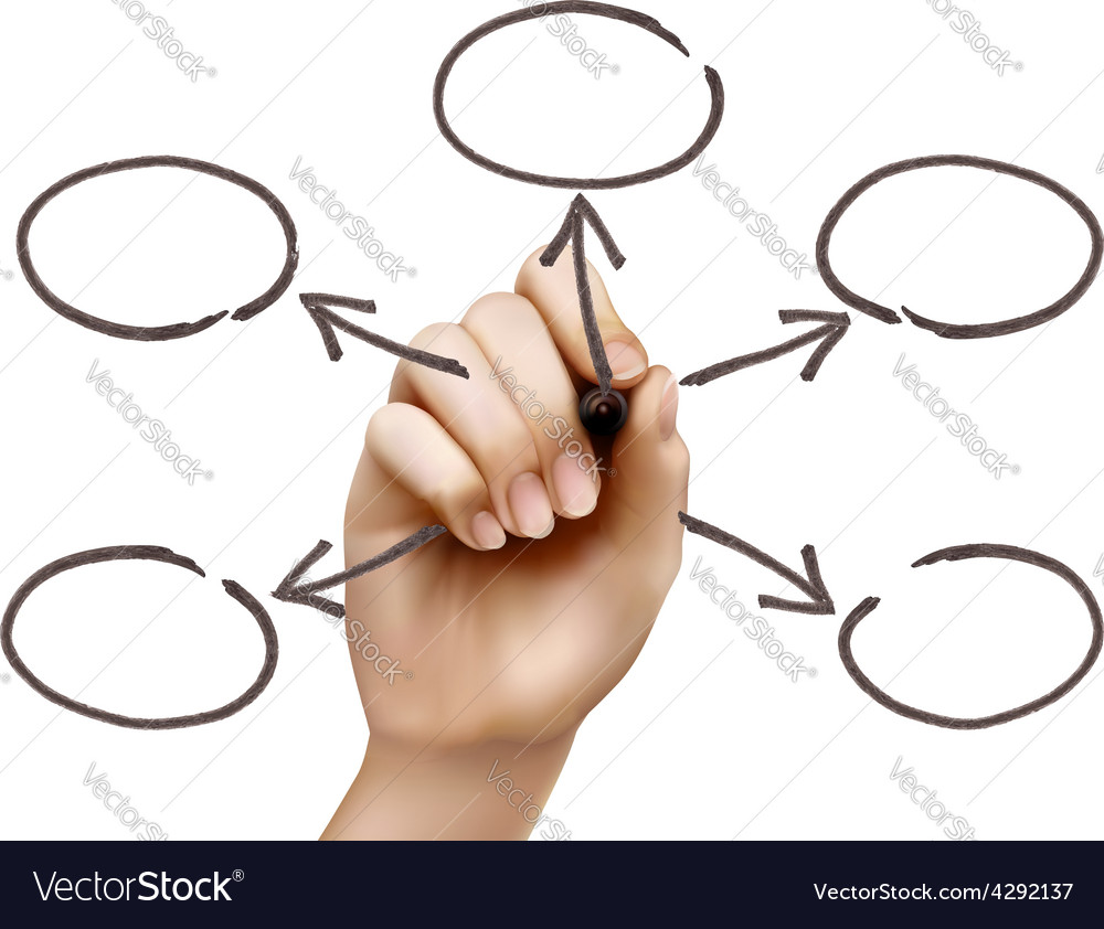Hand drawing empty diagram vector | Price: 3 Credit (USD $3)