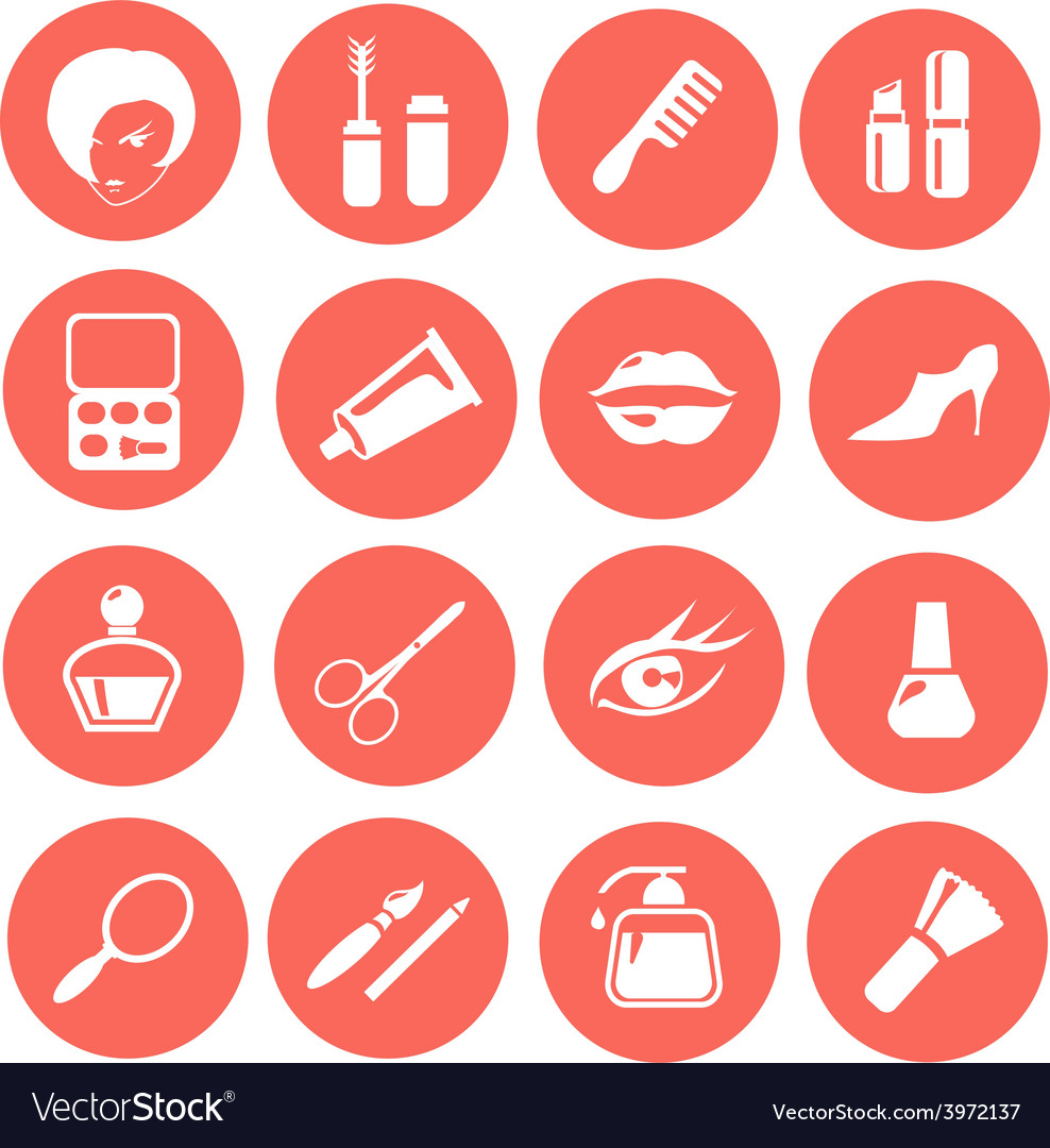 Make up icon set vector | Price: 1 Credit (USD $1)