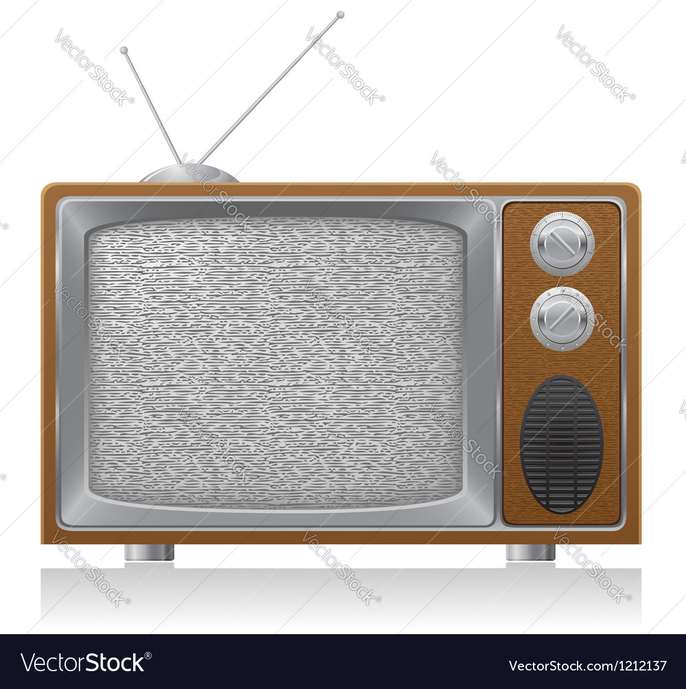 Old tv 02 vector | Price: 3 Credit (USD $3)