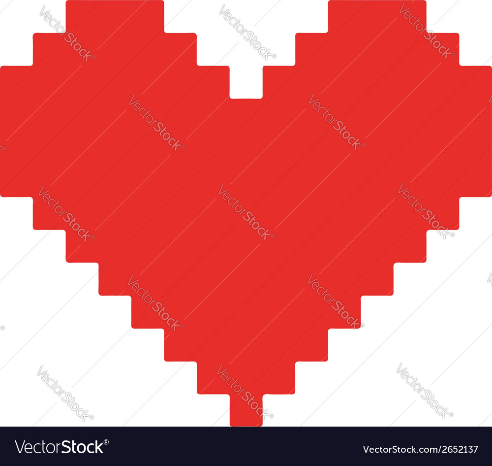 Pixel heart concept vector | Price: 1 Credit (USD $1)