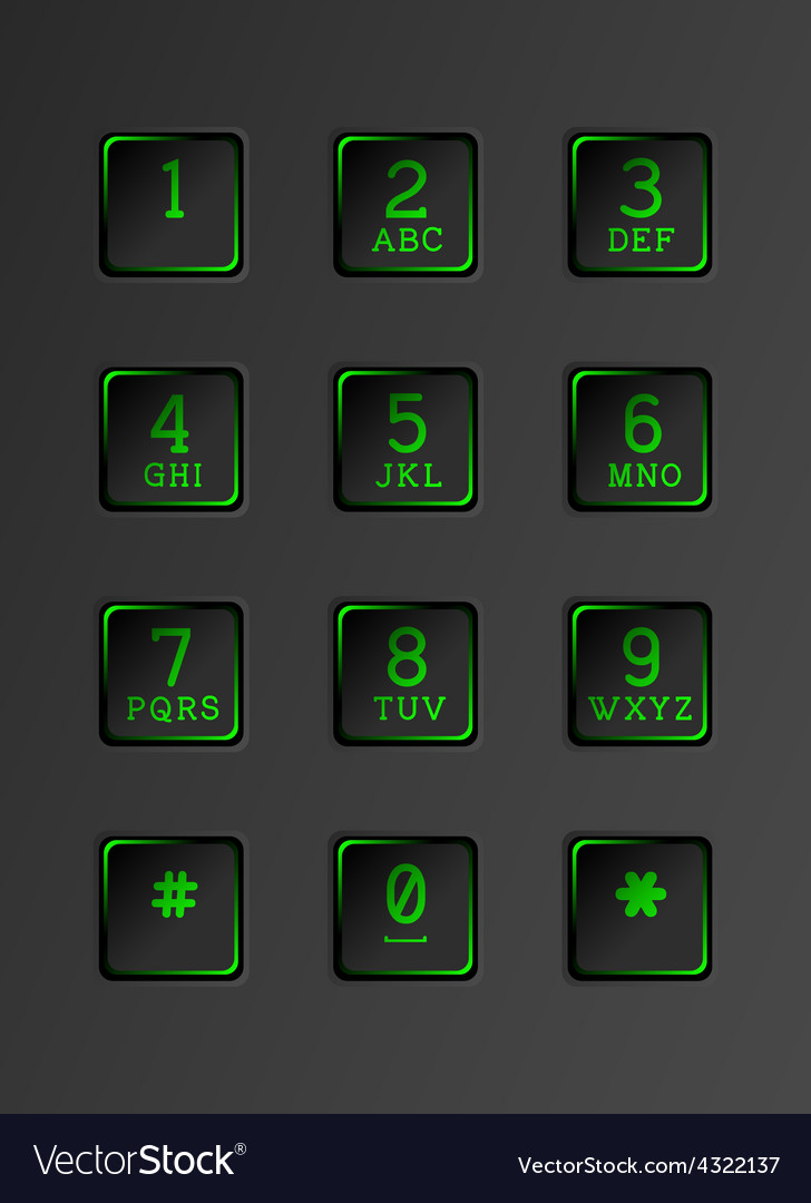 Security keyboard with neon lights vector   Price: 1 Credit (USD $1)