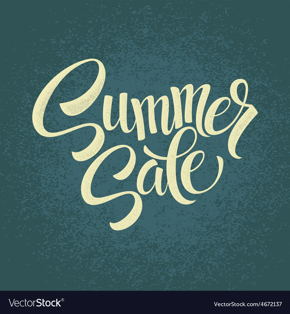 Summer sale original handwritten calligraphy vector | Price: 1 Credit (USD $1)