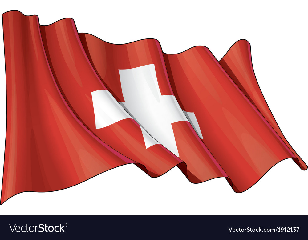 Switzerland flag vector | Price: 1 Credit (USD $1)