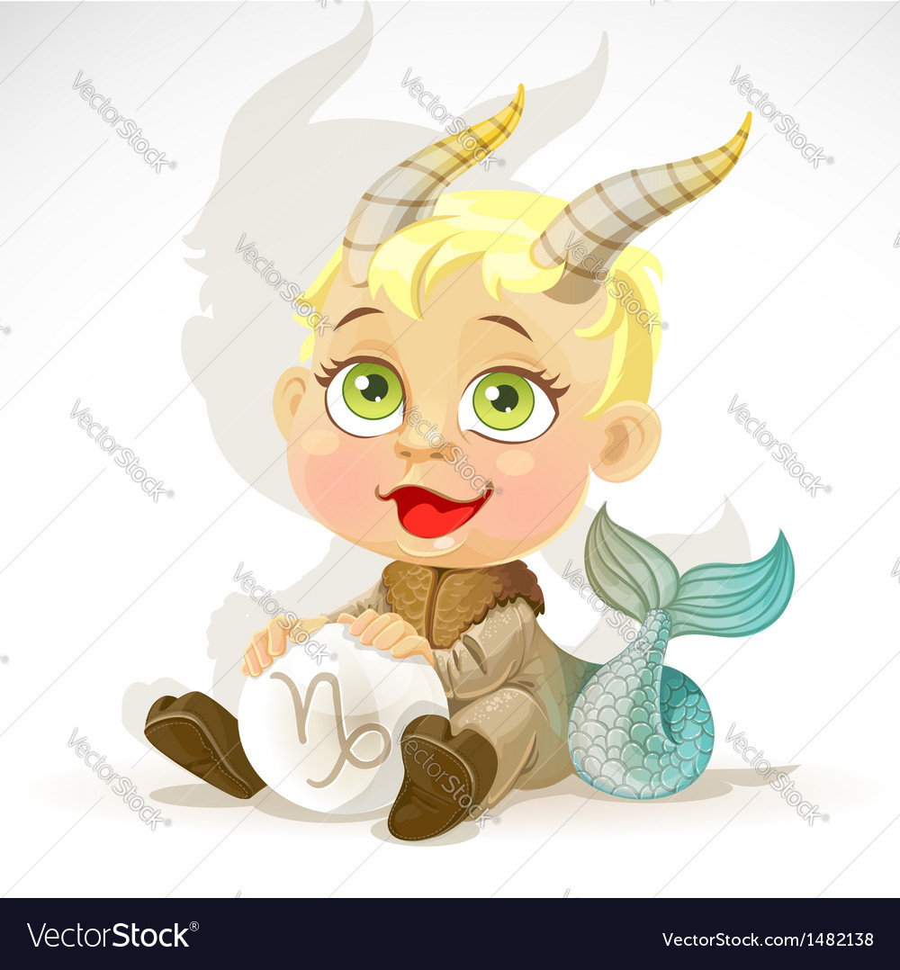 Baby zodiac - sign capricorn vector | Price: 3 Credit (USD $3)