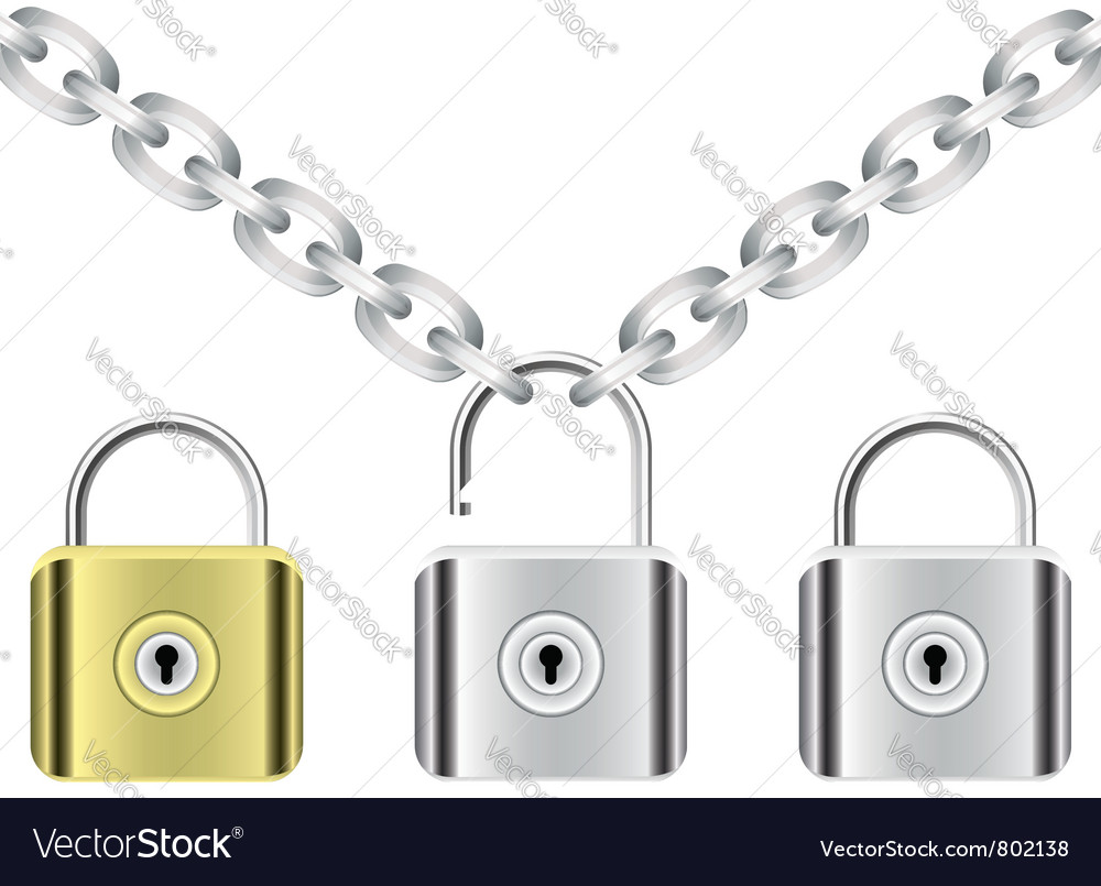 Chain and locks vector | Price: 1 Credit (USD $1)