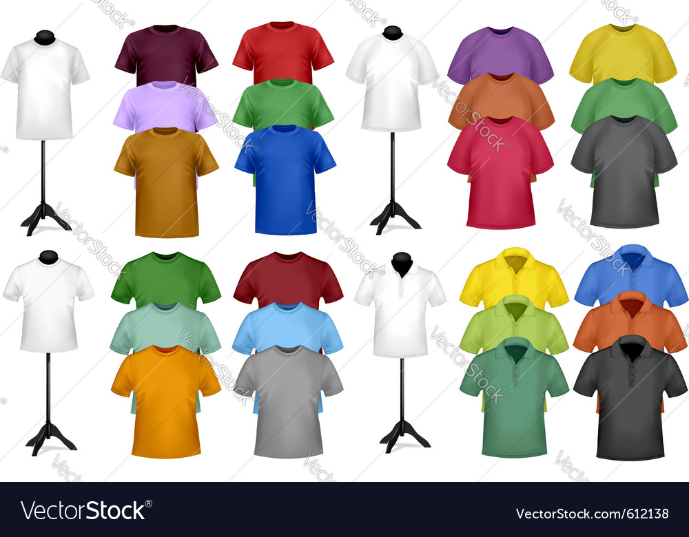 Color t-shirt design template vector | Price: 1 Credit (USD $1)