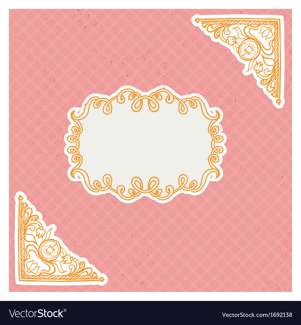 Decorative corners and frame in vintage style vector | Price: 1 Credit (USD $1)