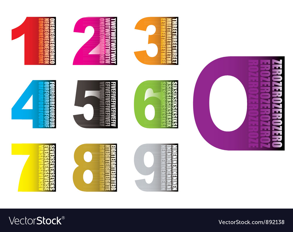 Learn by numbers vector | Price: 1 Credit (USD $1)