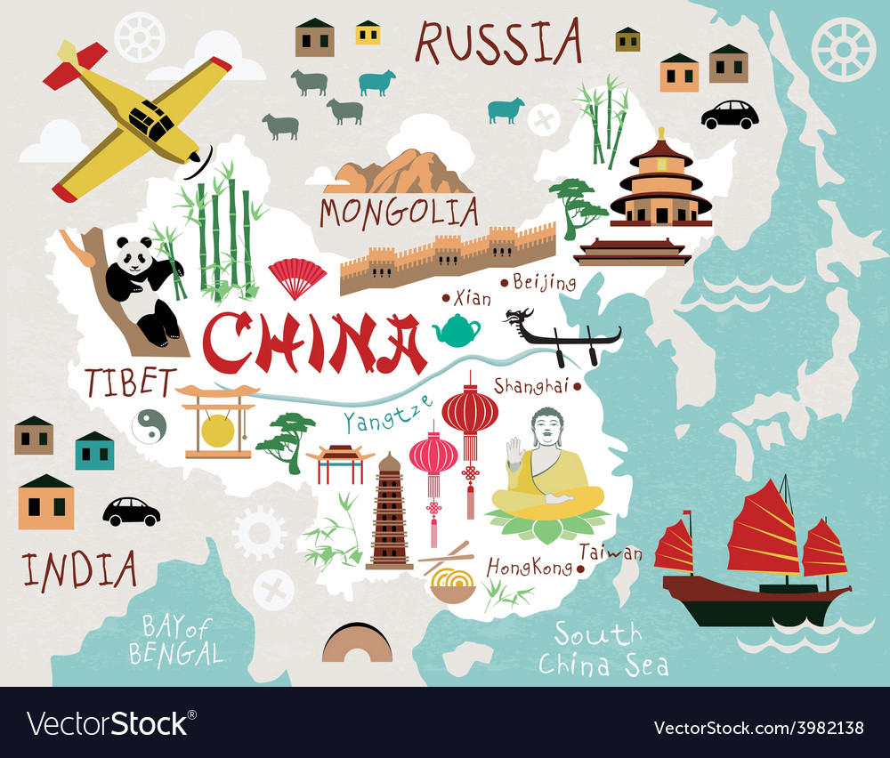 Maps of china vector | Price: 1 Credit (USD $1)