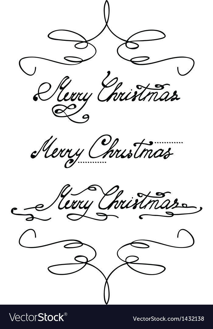 Merry christmas hand lettering vector | Price: 1 Credit (USD $1)