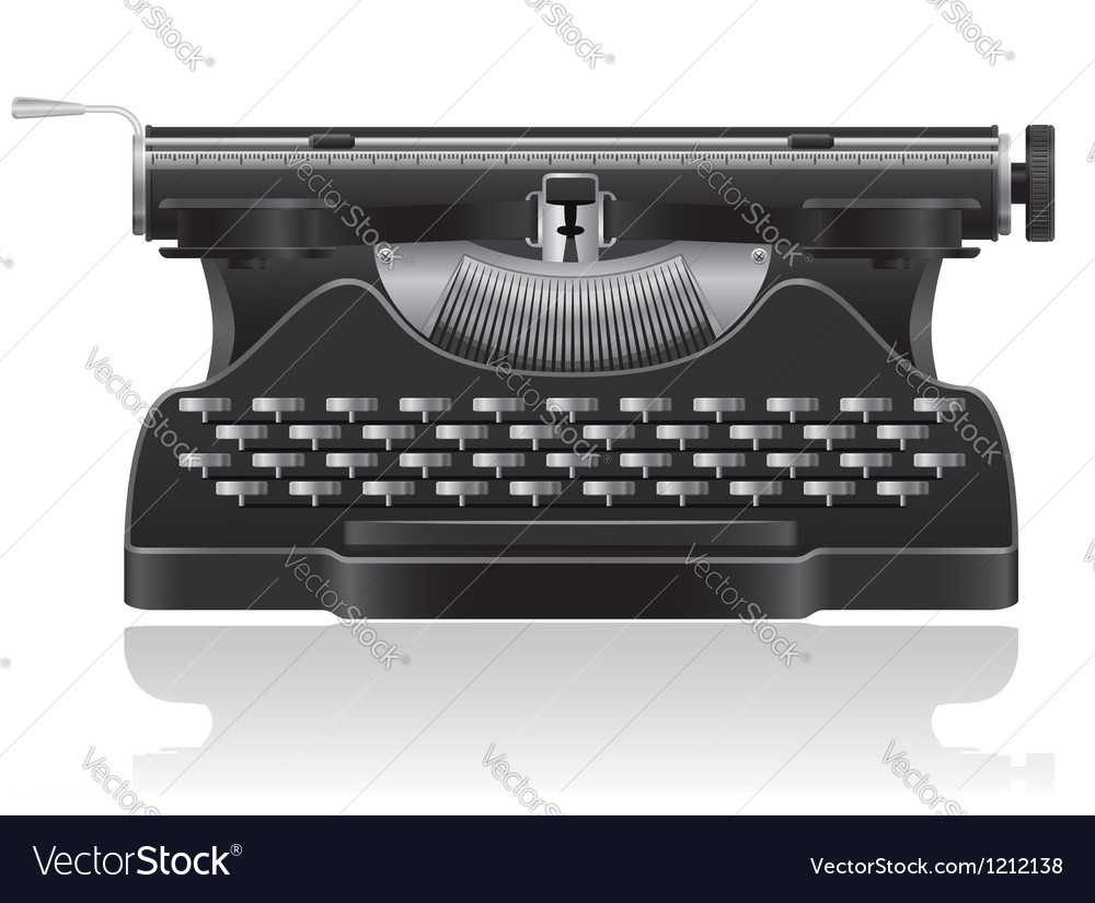 Old typewriter 01 vector | Price: 3 Credit (USD $3)
