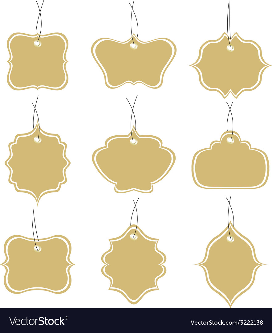 Paper tags collection isolated on white background vector