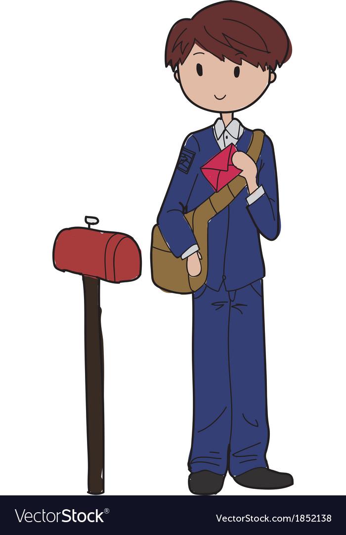 Postman vector | Price: 1 Credit (USD $1)