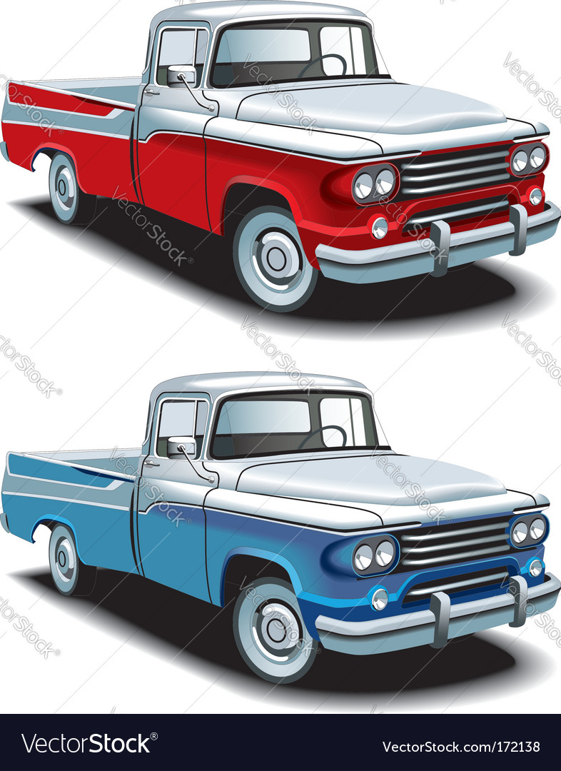 Retro american pickup vector | Price: 3 Credit (USD $3)