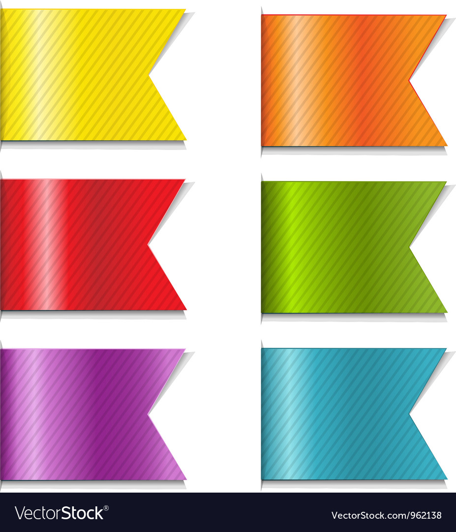 Ribbon markers vector | Price: 1 Credit (USD $1)