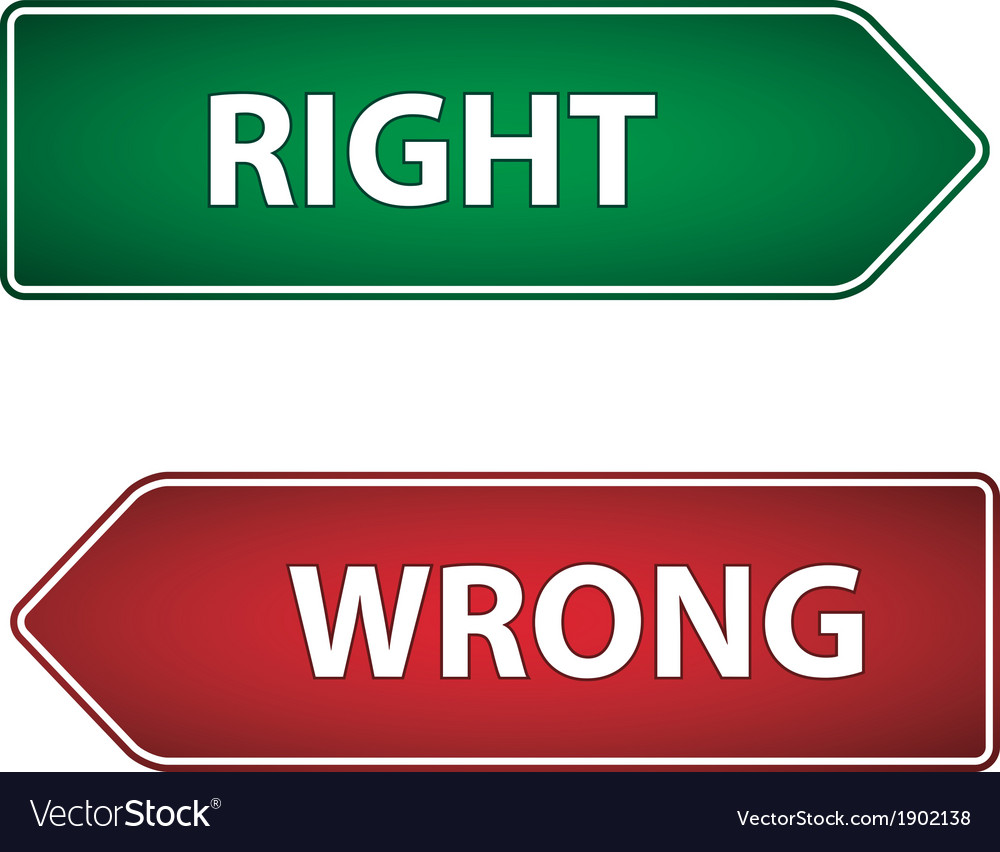 Right wrong label vector | Price: 1 Credit (USD $1)