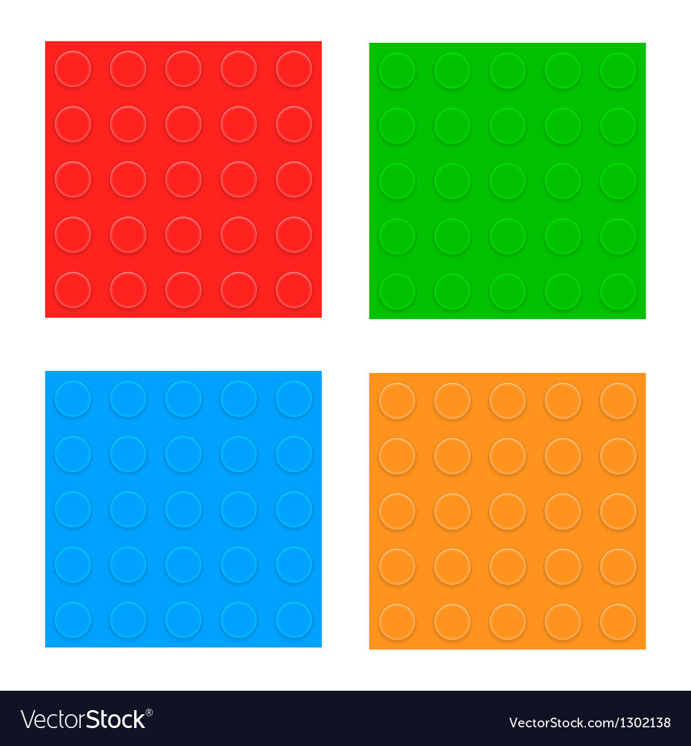 Set of seamless patterns plastic constructor vector | Price: 1 Credit (USD $1)