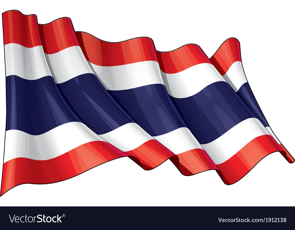 Thailand flag vector | Price: 1 Credit (USD $1)