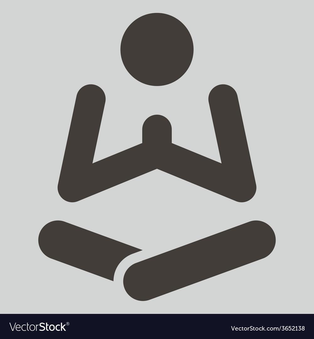 Yoga icon vector   Price: 1 Credit (USD $1)
