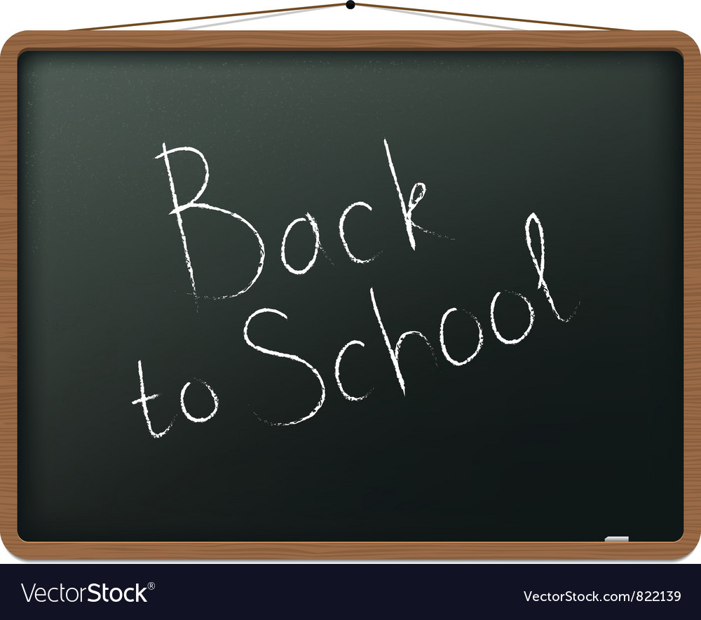 Blackboard with back to school vector | Price: 1 Credit (USD $1)