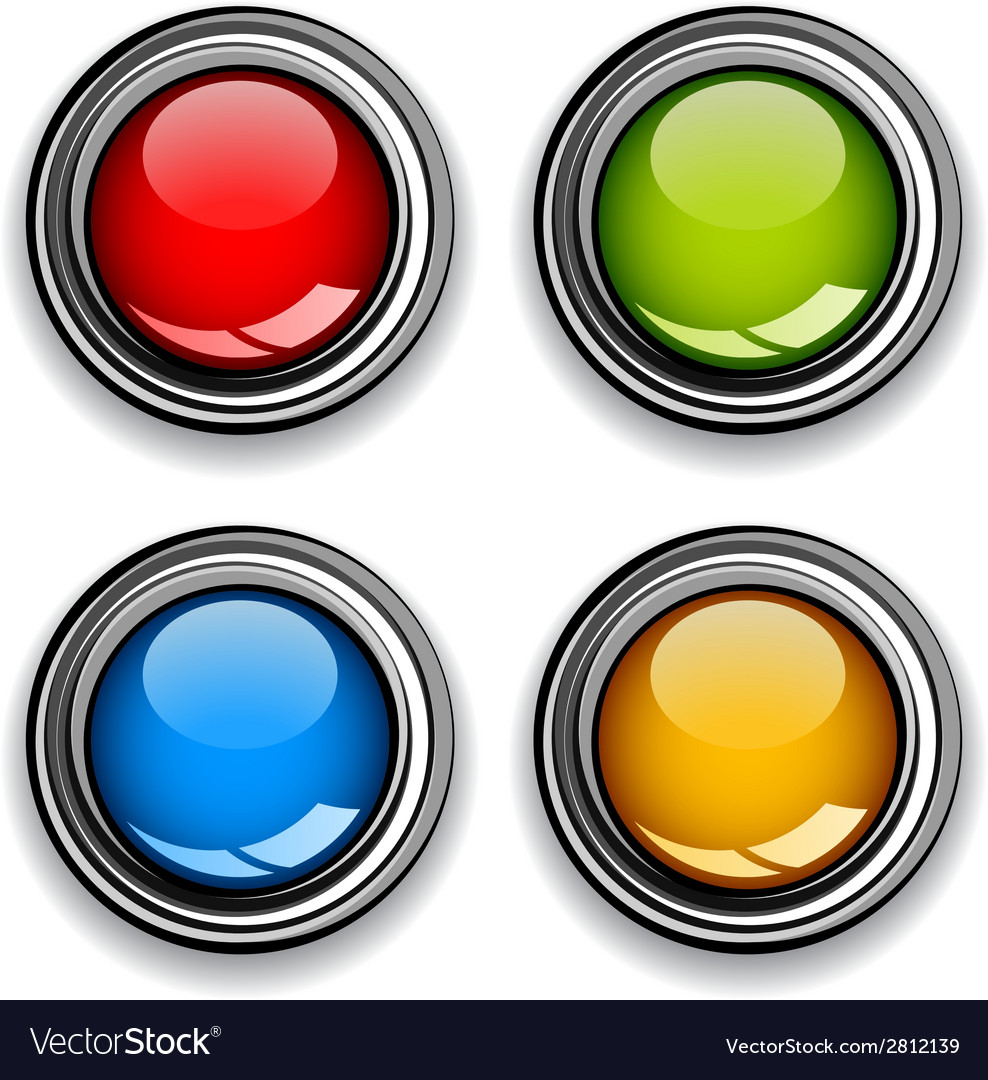 Blank chrome glossy buttons vector | Price: 1 Credit (USD $1)