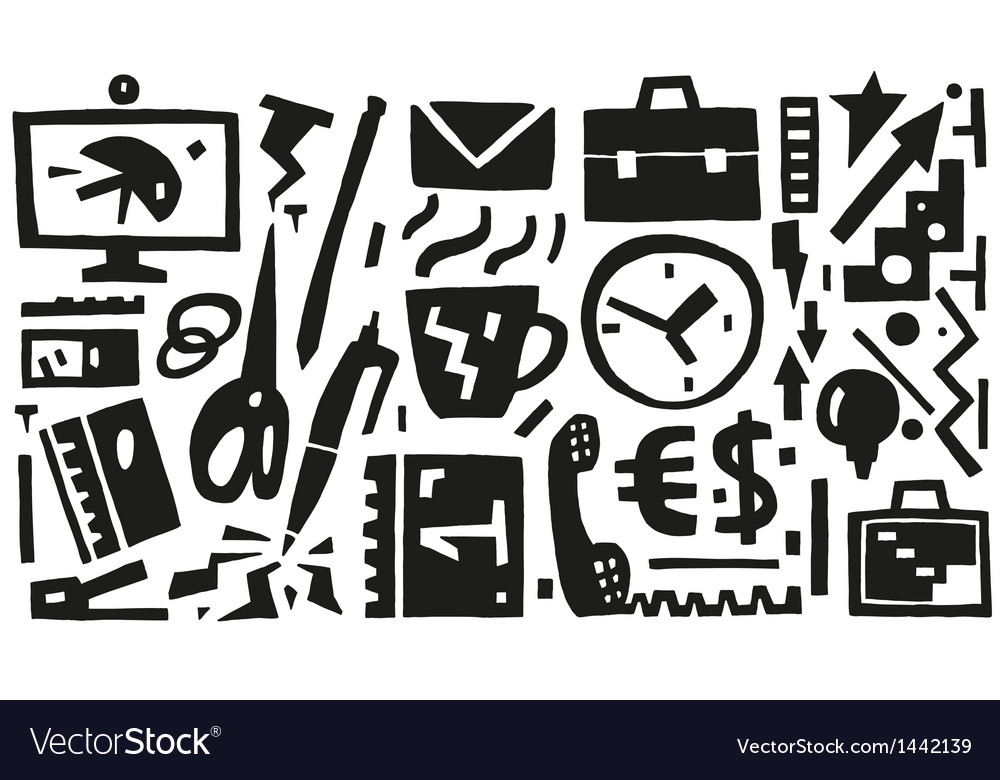 Business  office things - icons vector | Price: 1 Credit (USD $1)