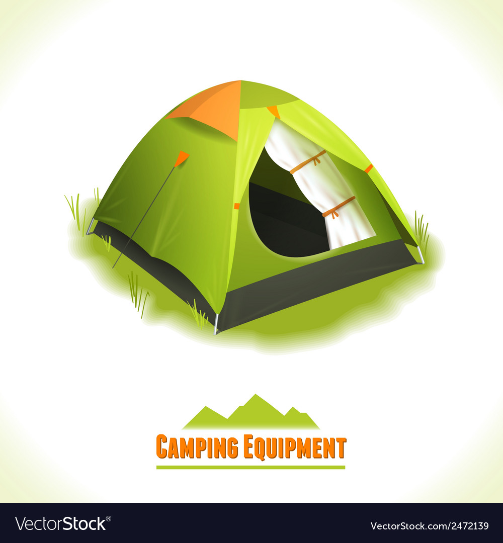 Camping symbol tent vector | Price: 1 Credit (USD $1)
