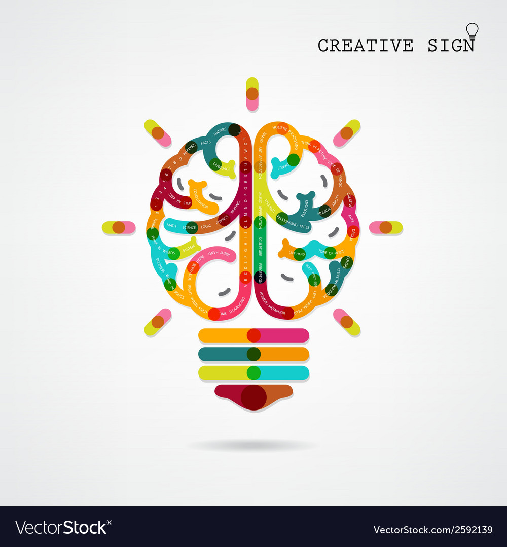 Creative infographics brain function vector | Price: 1 Credit (USD $1)