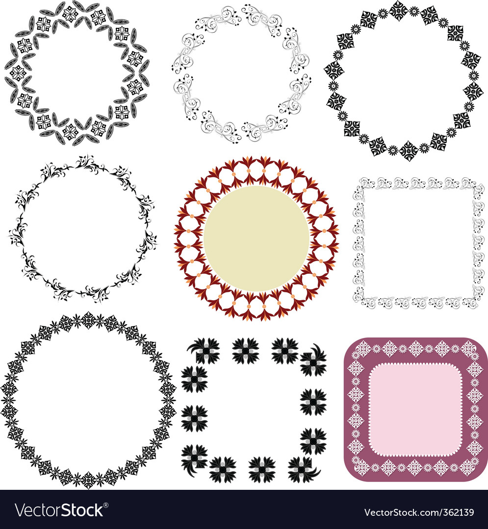 Frame oriental arabesque vector | Price: 1 Credit (USD $1)