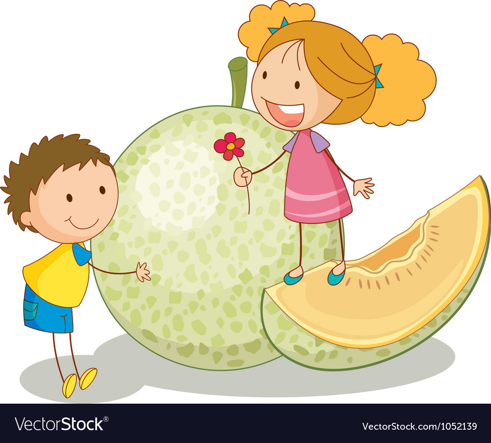 Kids and vegetable fruit vector | Price: 3 Credit (USD $3)