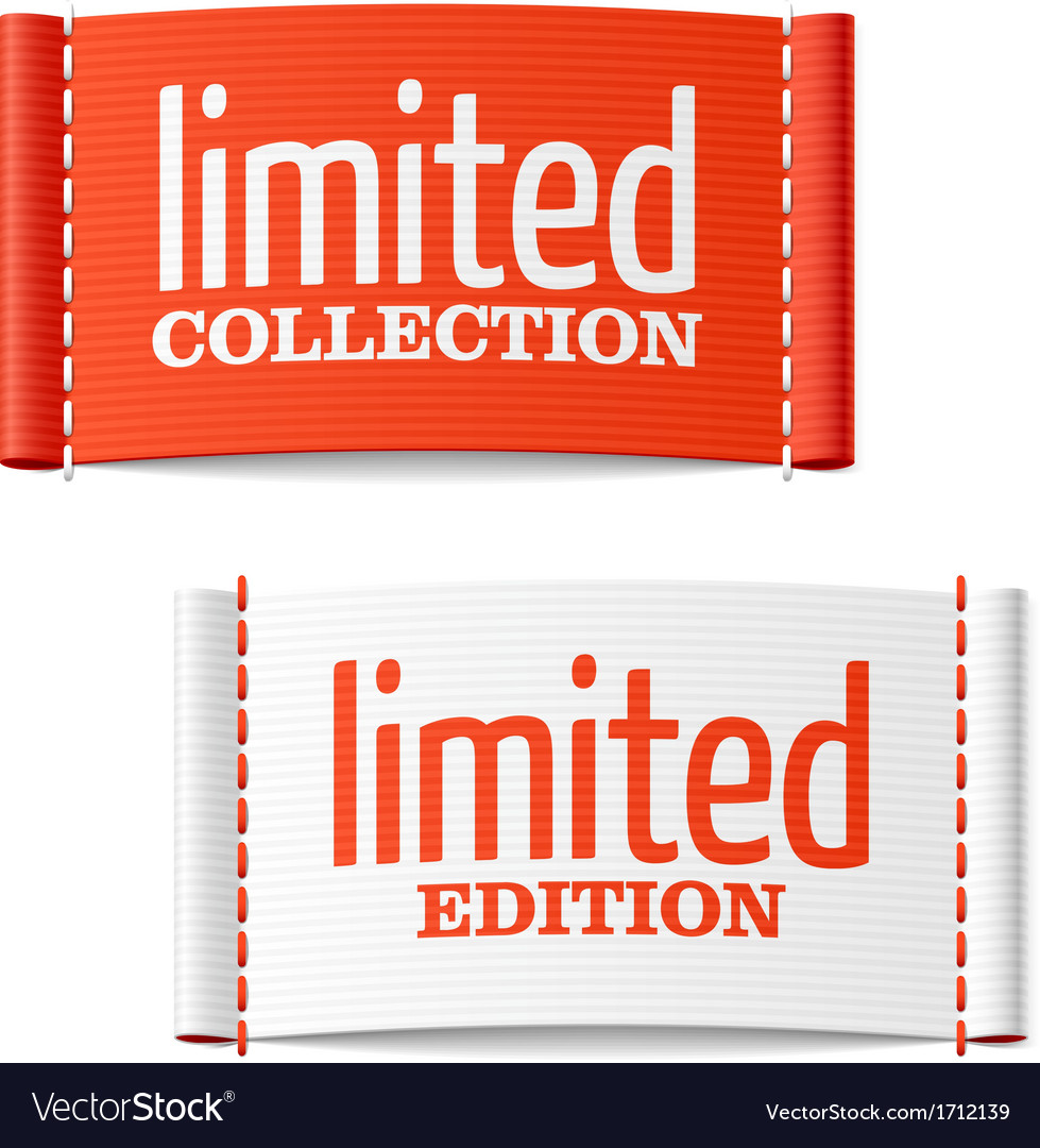 Limited collection and edition clothing labels vector | Price: 1 Credit (USD $1)