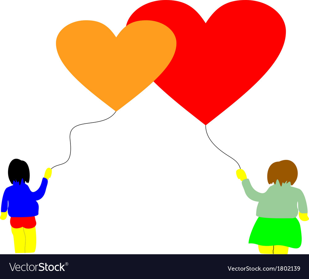Love baloon hearts vector | Price: 1 Credit (USD $1)