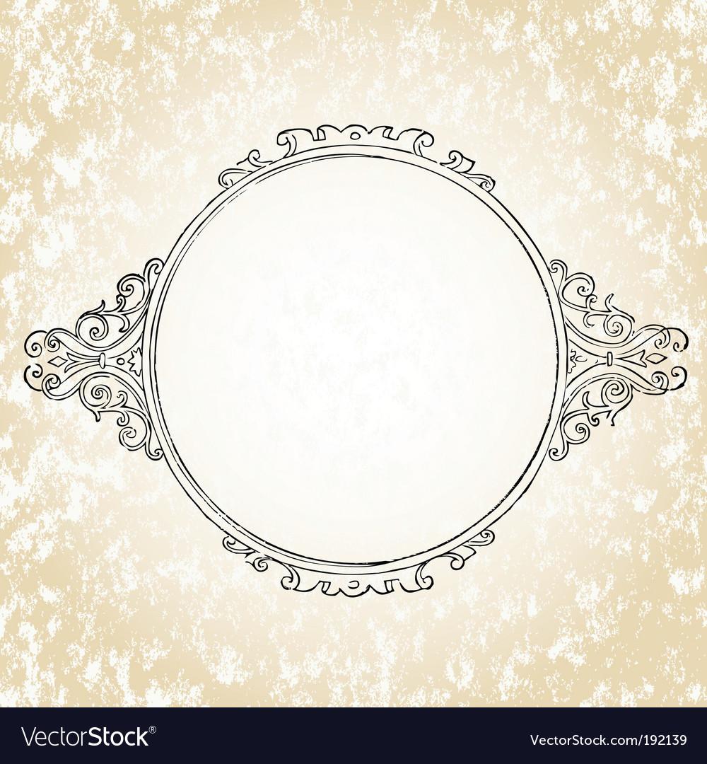 Ornate oval frame vector   Price: 1 Credit (USD $1)