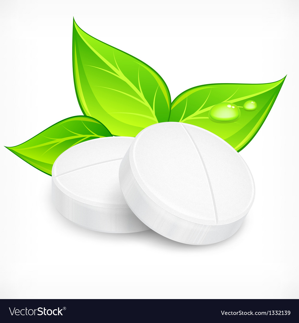 Pills natural on white vector | Price: 1 Credit (USD $1)