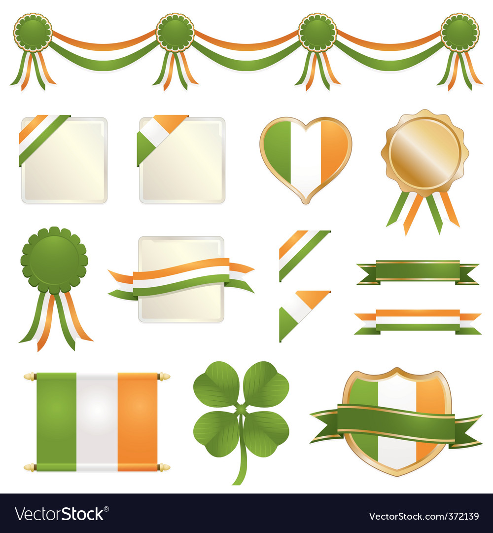 St patrick's day icons vector | Price: 1 Credit (USD $1)