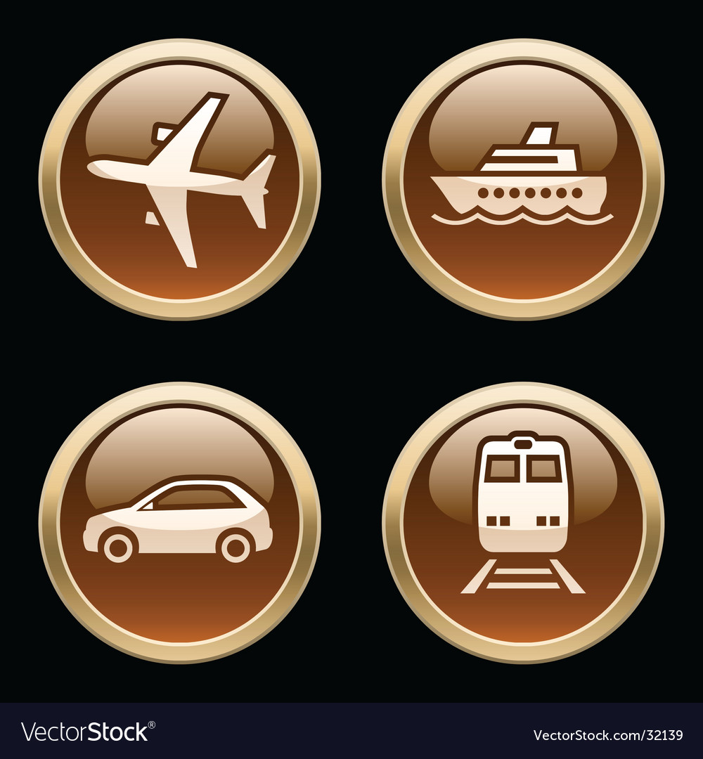 Transport icons buttons vector | Price: 1 Credit (USD $1)