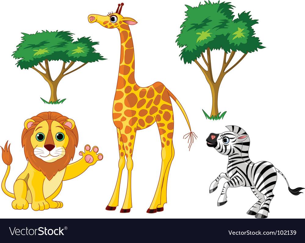 Wild animals vector | Price: 3 Credit (USD $3)