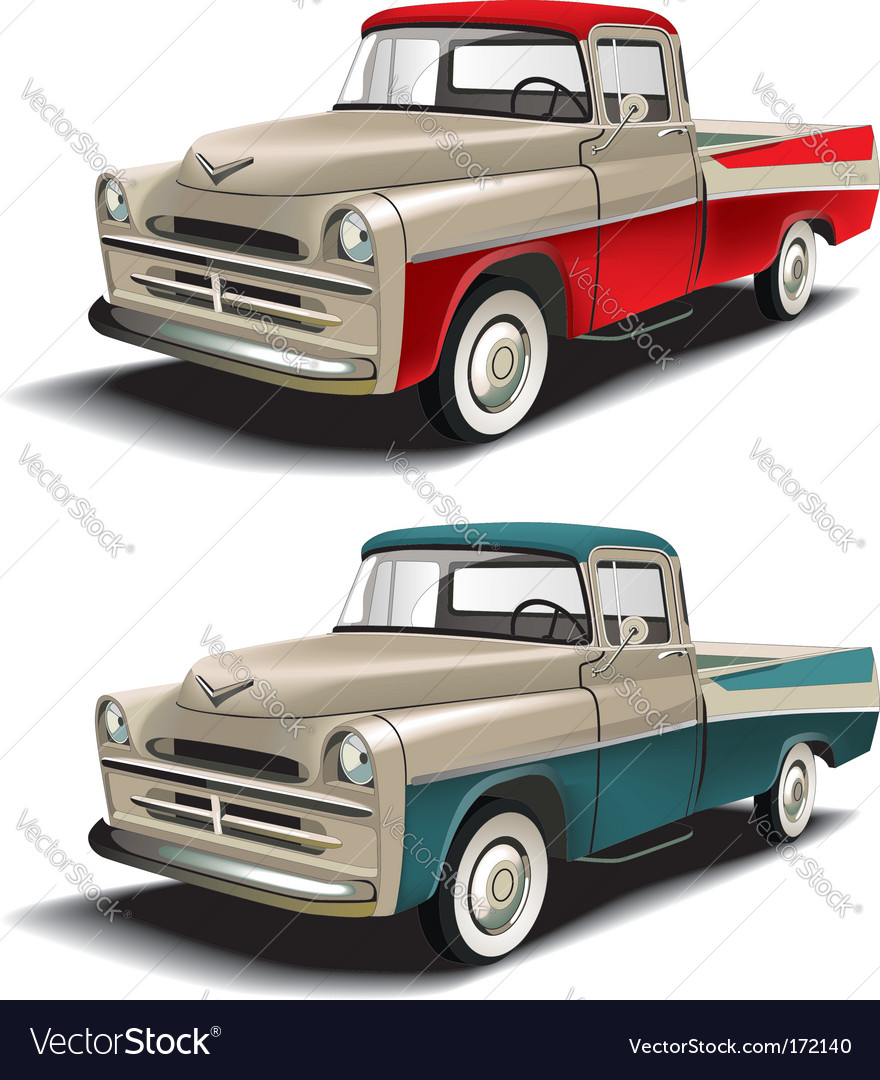 50s pickup vector | Price: 3 Credit (USD $3)