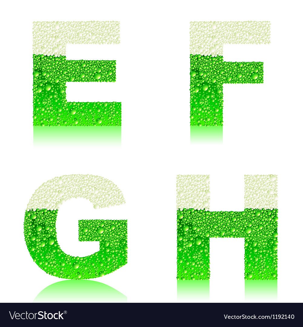 Alphabet green beer efgh vector | Price: 1 Credit (USD $1)