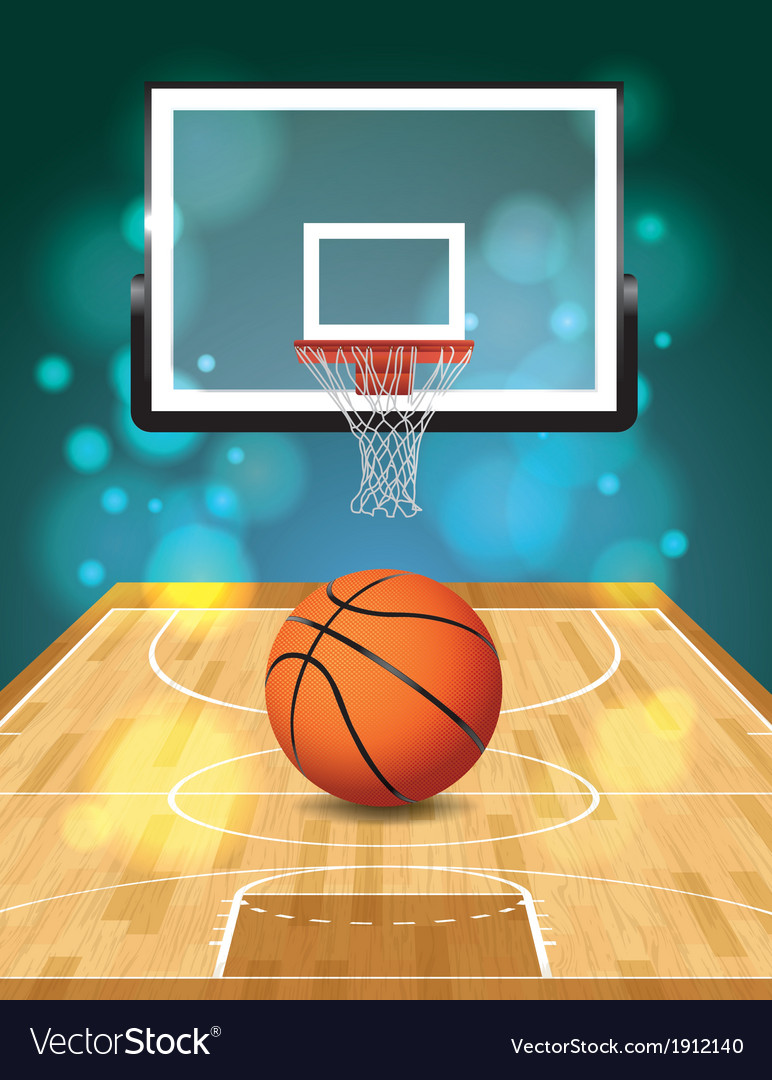 Basketball court and hoop vector | Price: 1 Credit (USD $1)