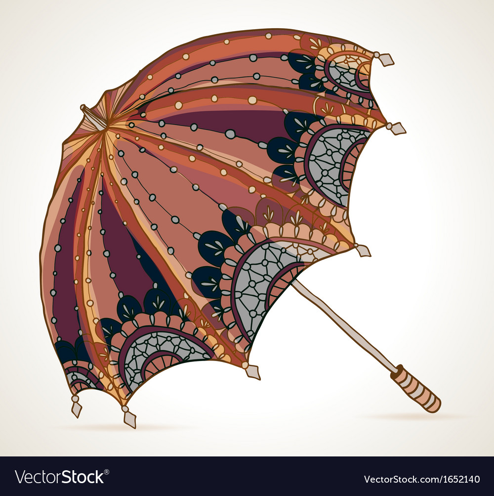 Beautiful brown umbrella vector | Price: 1 Credit (USD $1)