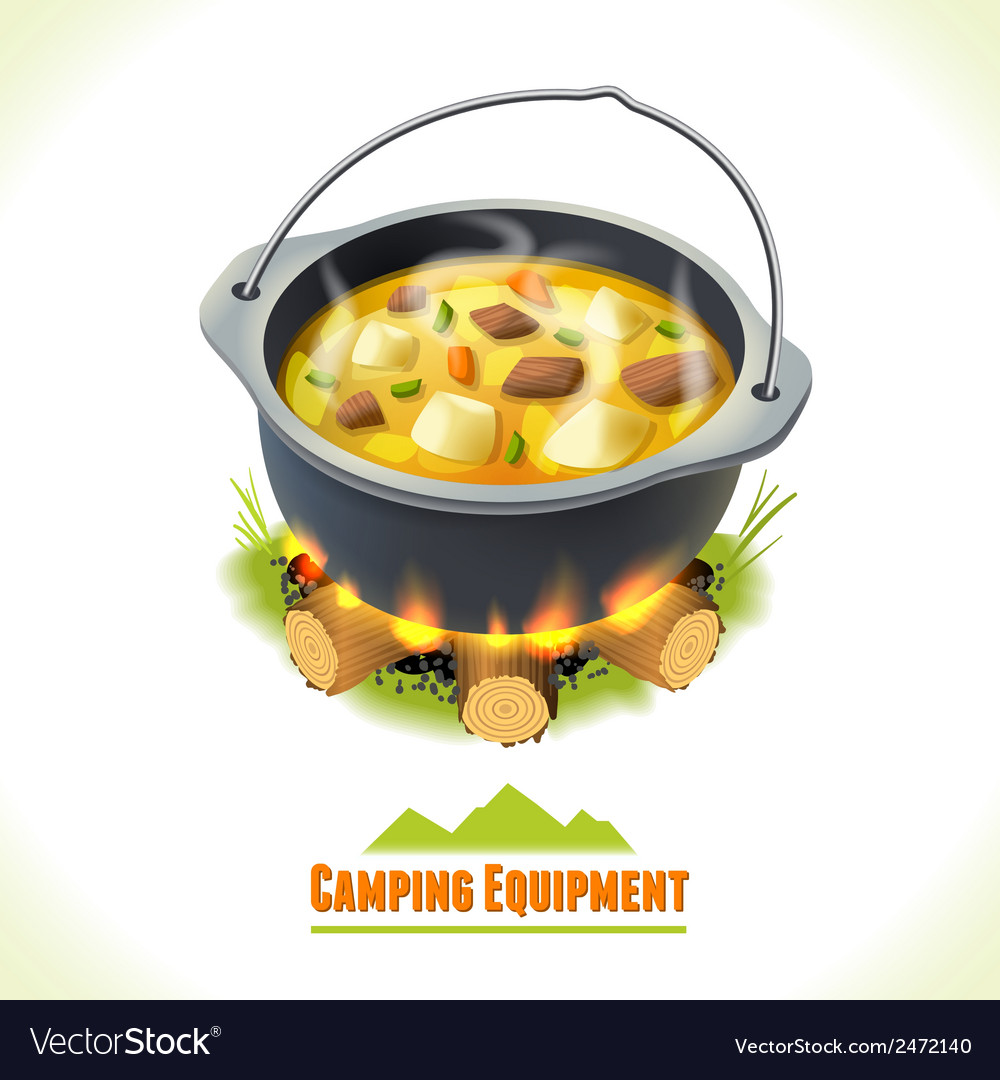 Camping symbol food pot vector | Price: 1 Credit (USD $1)