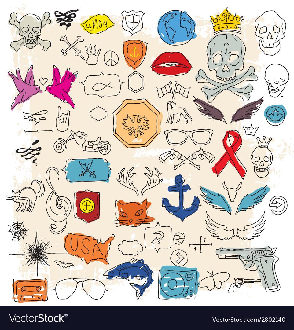 Doodle design elements vector   Price: 1 Credit (USD $1)