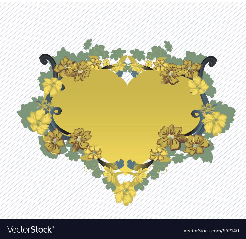 Elegant floral frame vector | Price: 1 Credit (USD $1)