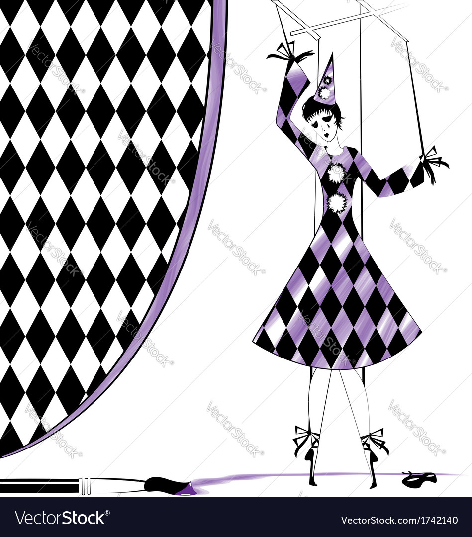 Fantasy puppet pierrette vector | Price: 1 Credit (USD $1)