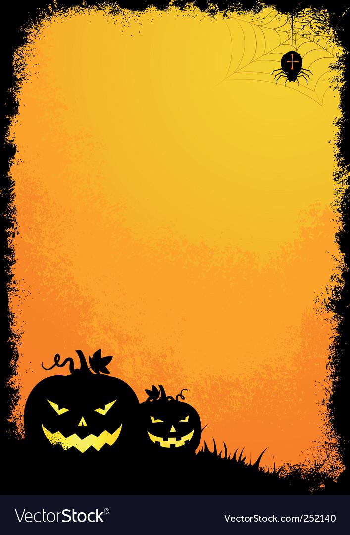 Grunge halloween border vector | Price: 1 Credit (USD $1)