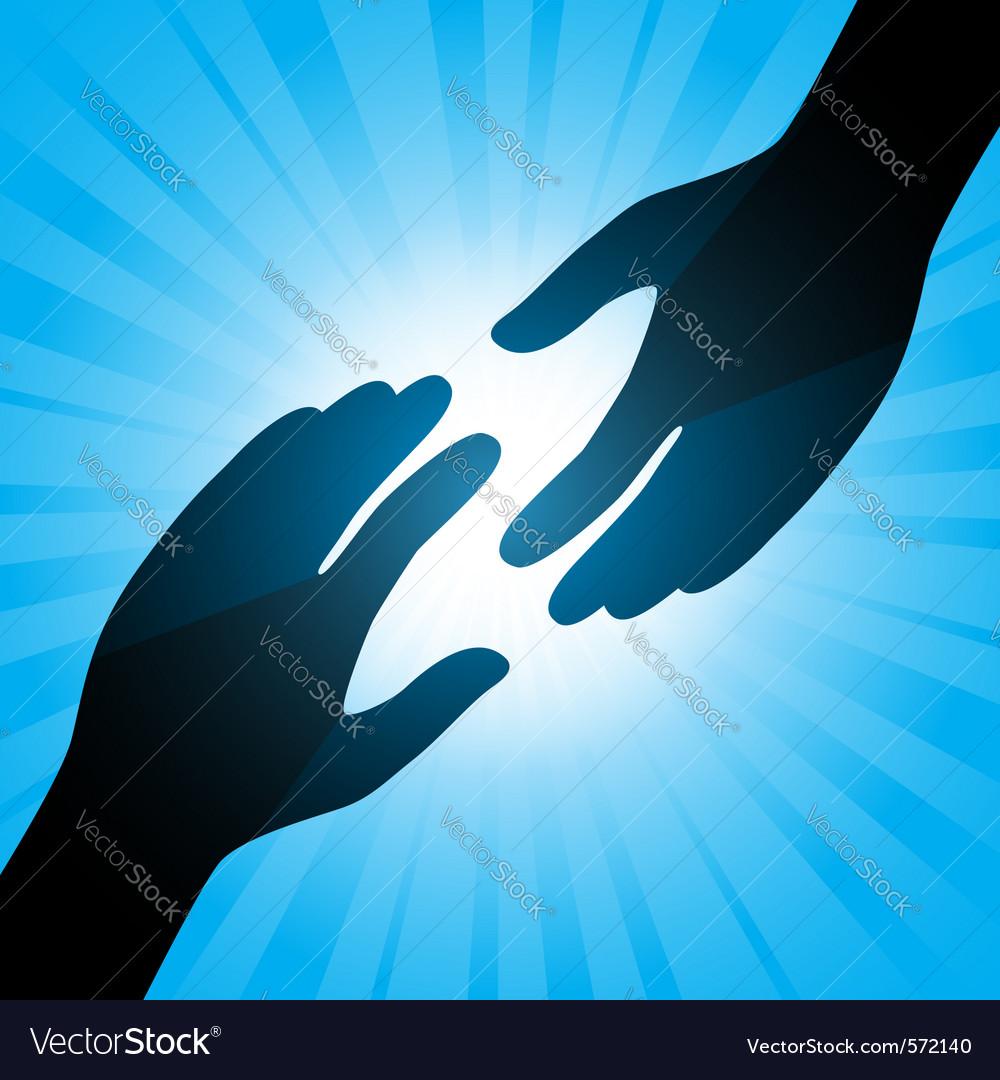 Handshake background vector | Price: 1 Credit (USD $1)