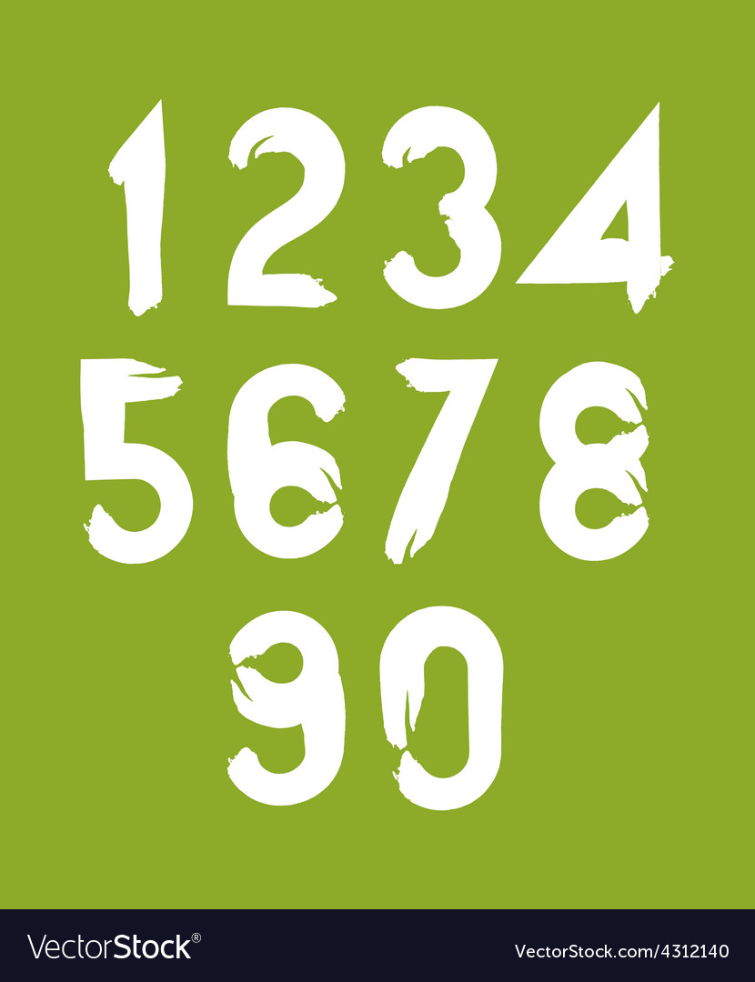 Handwritten white numbers on green backdrop vector | Price: 1 Credit (USD $1)